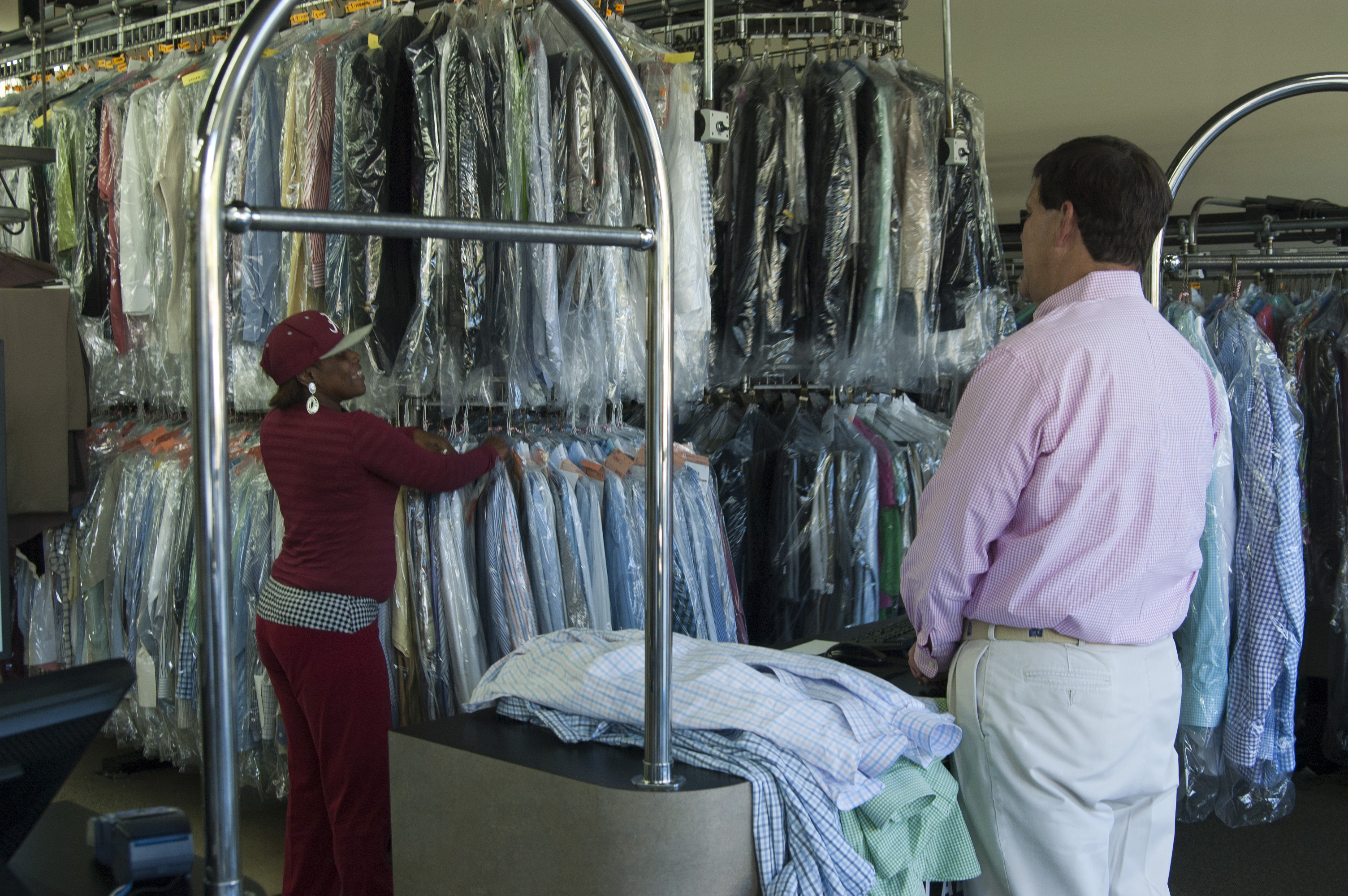 One Of Our Hy Loyal Customers Picking Up His Orders And Dropping Off This Week S Dry Cleaning Laundry